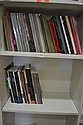 ONE AND A HALF SHELVES OF MISC AUCTION CATALOGUES. INCL: SOTHEBYS, BONHAMS ETC.