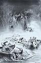 JAMES GLEESON (1915-2008) Untitled (Surreal Landscape) 1984 charcoal on paper