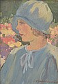 H. WRIGHT HARRISON (20TH CENTURY) Portrait of a Girl oil on board