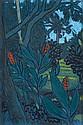 RAY CROOKE (BORN 1922) Island Landscape mixed media on card