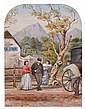 EBENEZER WAKE COOK (BRITISH/AUSTRALIAN, 1843-1926) Coach Stop 1873 watercolour