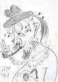 JOHN PERCEVAL (1923-2000) The Swagman 1987 pencil on paper