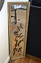VICTORIAN HAND PAINTED RECTANGULAR MIRROR WITH BIRD DESIGN