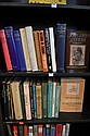 ONE SHELF OF LITERARY BIOGRAPHIES INCLUDING THE LIFE AND LETTERS OF SIR EDMOND GROSSE, BERNARD SHAW AGITATIONS AND INTERVIEWS AND RE...