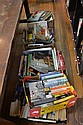 FIVE BOXES OF ASSORTED BOOKS AND NOVELS