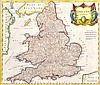 17TH CENTURY MAP OF ENGLAND