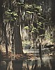 EUGÈNE DELACROIX (AMERICAN) Spring in the Swamp, circa 1890s colour tinted print