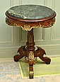 ITALIAN CIRCULAR OCCASIONAL TABLE WITH GREEN MARBLE AND HEAVILY MOUNTED WITH ORMOLU H72XW52