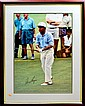Framed Golf Poster, Signed Gary Player
