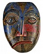 Vintage Painted wood Mask, Signed