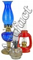Lot of Glass Oil Lamps