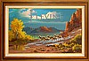 Beverly Carrick (ne 1930) Western Oil Painting #1