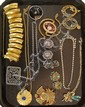 Lot of Costume Necklaces, Earrings Brooches
