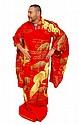Vintage Man's Red Gold Kimono