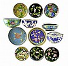 12pcs of Chinese Cloisonne: Bowls, Ashtray, Dishes