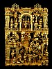 Chinese Carved Wood  Architectural Temple Panel