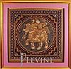 Framed Burmese Kalaga Tapestry