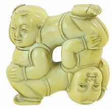 Carved Ivory Children Netsuke