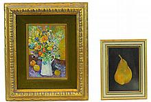 2 Pc. Mini Oil Painting Lot