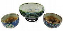 3 Pc. Japanese Pottery Bowl Lot