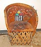 Hopi Hand Painted Leather Chair