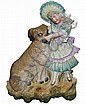 Antique Bisque Figurine with Girl and Dog