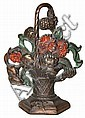 Victorian Flower Basket Cast Iron Door Stop