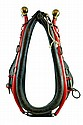 Antique Horse Collar, Brown Leather, Red Hanes
