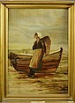 Antique Oil Painting, Fisher Wife