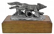 Monrotus Signed Pewter Fox Sculpture