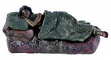 Signed PBW Erotic Sleeping Woman Bronze