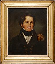 19th Century Oil Painting Young Admiral John Moore