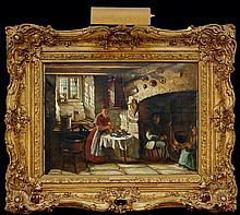 Thomas Faed (1826-1900) U.K. Oil Painting