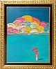 Peter Max (né 1937) Umbrella Sky with Rainbow Man Ltd. Ed. Serigraph