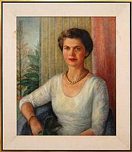 Edna Reindel (1894-1990) Portrait Oil Painting