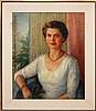 Edna Reindel (1894-1990) Portrait Oil Painting