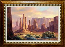 Charles H. Pabst (né 1950) Monument Valley Painting