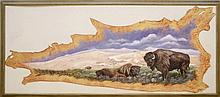 The Bison, a Hide Painting