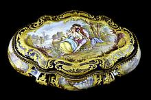 Large Sevres Cobalt Dresser Box 18th Century