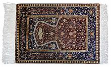 Fine Turkish Silk Hereke Prayer Rug