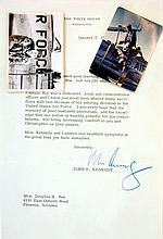 John F. Kennedy Signature & Lyndon B. Johnson Condolence Document Pair