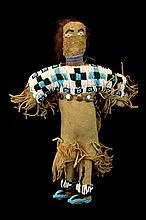 Native American Leather & Bead Child's Doll