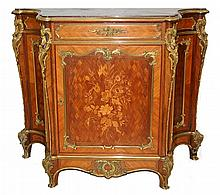 Louis XV Style Rococo Inlaid Chest/Commode