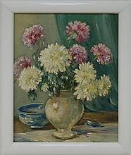 20th Century A. Gowen Still Life Oil on Canvas