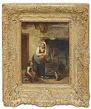 19th Century German Oil on Board Painting