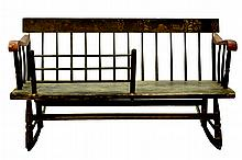 Windsor Wooden Mammy's Bench by A J Bates, c.18th Century