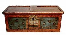 Antique Continental Painted Wood Blanket Chest