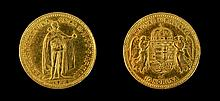 1904 Hungarian 10 Korona Gold Coin