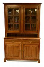 19th Century Step-Back Cupboard w/ Original Glass