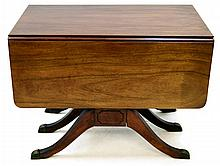 Duncan Phyfe Mahogany Drop Leaf Extension Table